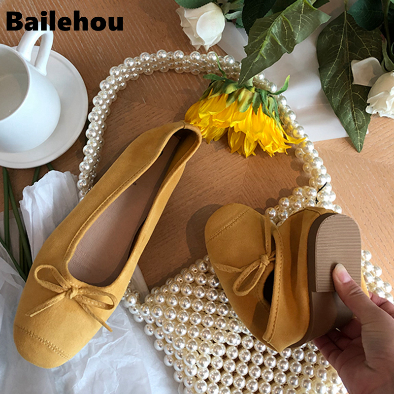 Bailehou Women Ballet Flats Super Soft and Comfort Flat Shallow Mouth Round Toe Shoes Women Single Shoes Slip On Casual Flats in Women 39 s Flats from Shoes