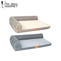 Hoopet Soft Pet Dog Bed Puppy Cat Kennel Two Side Cage Pad Bed Cushion Mat Nest Blankets