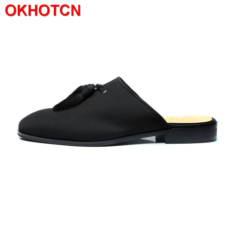 Spring Autumn Men Casual Slippers Fashion Fringe Solid Men Slippers Shoes Outdoor Black Cloths Party Slides Shoes Men Home Shoes fghgf shoes men s slippers hma