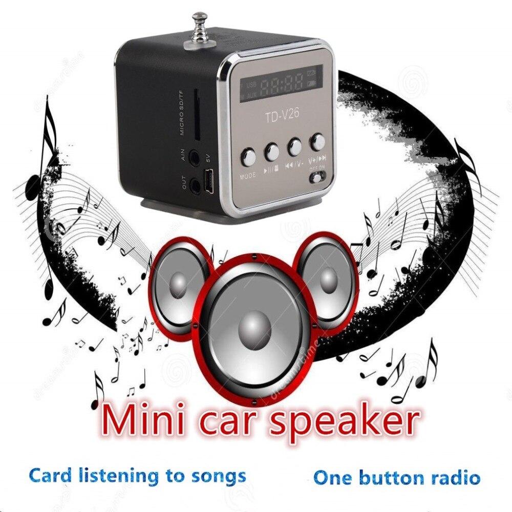 Neue Mode Tragbare Micro Tf Usb Mini Lautsprecher Musik Player Portable Fm Radio Stereo Telefon Laptop Mp3 Mp4 Player Mini Lautsprecher Gute QualitäT