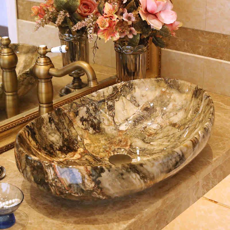Hand Painted Bathroom Vanity