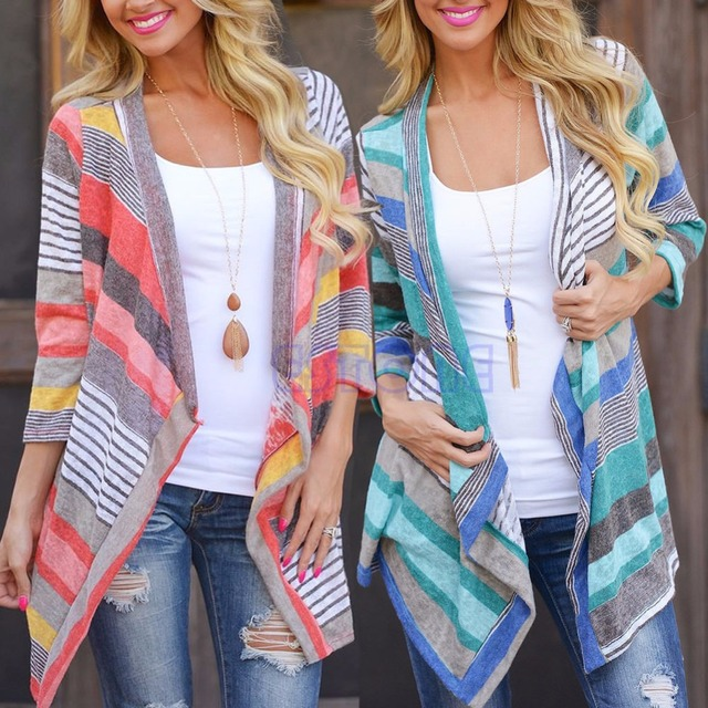 Women's stripe cardigan