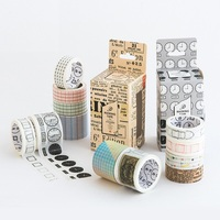 4 Pcs Set Deco Masking Tape 3 1 Paper Washi Tapes Function Rainbow Nature Color Stickers