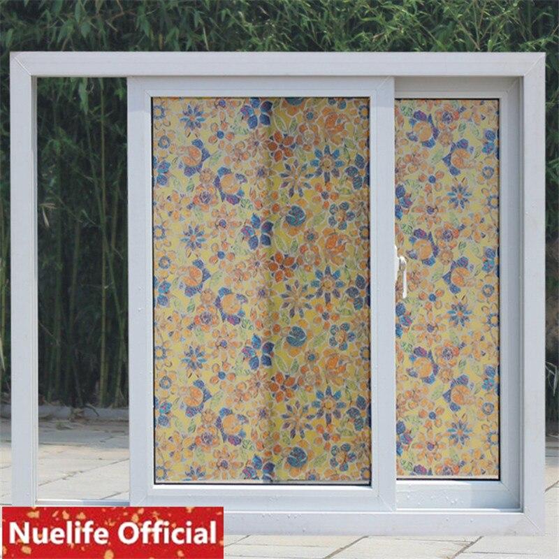 90x200cm Creative pattern frosted thick glass film bathroom living room bedroom kitchen shop balcony sliding door window film