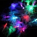 Luz da corda levou Natal 5 M Flor LEVOU Luzes Da Árvore de Natal para Casa Ao Ar Livre De Fadas Jardim Ornamentos Pingente Guirlanda EUA UE plugue