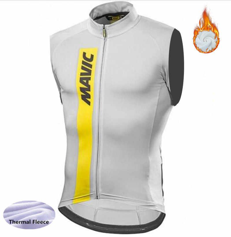 Winter thermal fleece Cycling Sleeveless Vest Mtb Bike Bicycle keep warm pro  team vest men cycling 76a187889