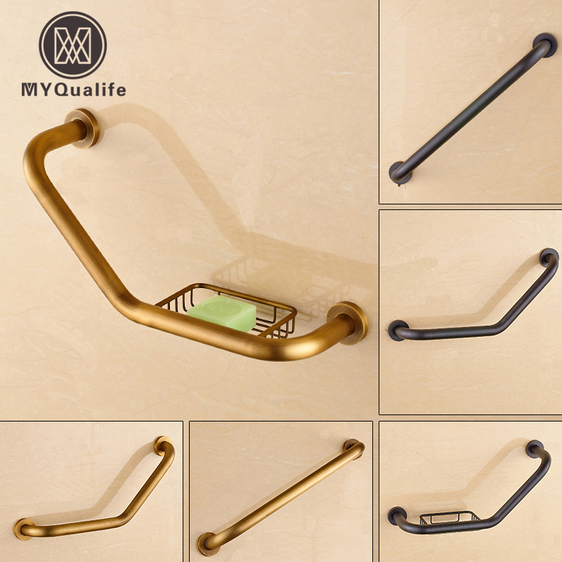 NºFree Shipping Brass Antique /black Bathtub Grab Bars Bathroom ...