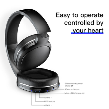 Adjustable & Foldable Bluetooth Headphone with Mic - D02 2