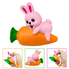 Squeeze soft Squeeze Squishy Carrot Rabbit Slow Rising Cream Scented Decompression Toys Funny Gift Z0226(China)