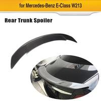 Carbon Fiber Car Rear Trunk Spoiler Wing Boot For Mercedes-Benz E Class W213 E200 E300 E500 E43 E63 AMG S 4-Door 2016 - 2019 RT