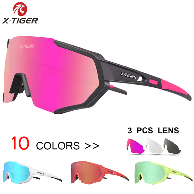 X TIGER Women Polarized Cycling SunGlasses MTB Bicycle Cycling Eyewear Ciclismo Cycling Glasses Mountain Racing Bike Goggles