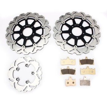 BIKINGBOY For Suzuki GSXR GSX-R 1000 GSXR1000 GSX-R1000 K1 K2 2001 2002 Full Sets Front Rear Brake Discs Disks Rotor Pads
