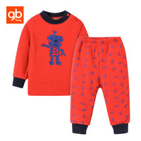 GB Brand Baby Boys Clothing Sets Cute Cartoon Winter Warm Thicken Fleece Sweatshirt Pants Cotton Casual