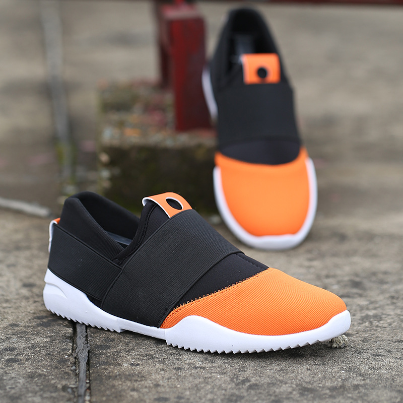 New Men Sneakers Sport Canvas Breathable Running Slip on Casual Athletic shoes