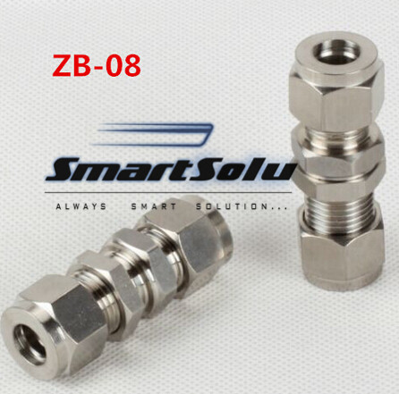 Free shipping Passthrough Stainless Steel Connector Fitting, ZB-08 Thread, Homebrew Fitting,Straight terminal fittings free shipping of 1pc hss 6542 full cnc grinded machine straight flute thin pitch tap m37 for processing steel aluminum workpiece