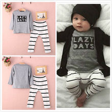 Toddler Infant Baby Boys Clothes Long Sleeve Tops T-Shirt Pants Outfits Set 2pcs
