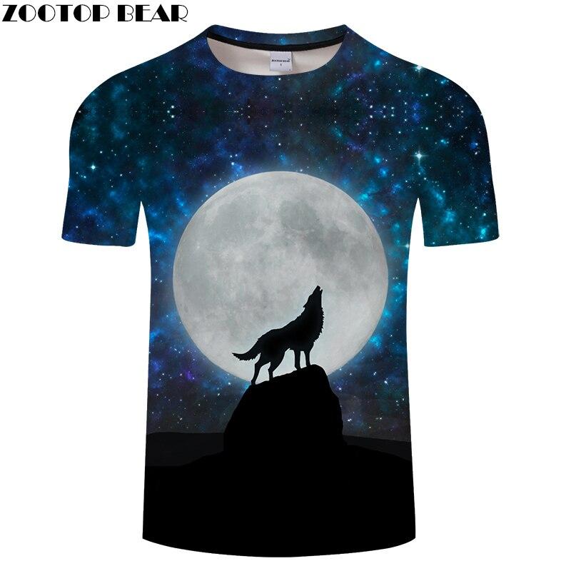 Enjoy Moon 3D tshirts Women Men t shirt Wolf t-shirt Novelty Tee Fashion Top Streetwear Short Sleeve Casual Drop Ship ZOOTOPBEAR