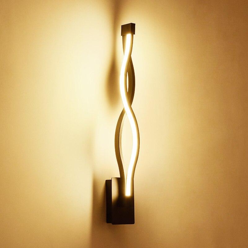 2019 Nieuwe Stijl Moderne Minimalistische Slaapkamer Muur Lampen 16 W Ac96v-260v Led Blaker Zwart Wit Lamp Hal Verlichting Decoratie Aantrekkelijk En Duurzaam