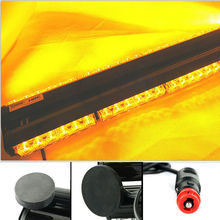 Super Bright Car Vehicle 12V 18″ Double Side 108W LED Work Light Bar Beacon Light Car Emergency Warning Strobe Light Amber