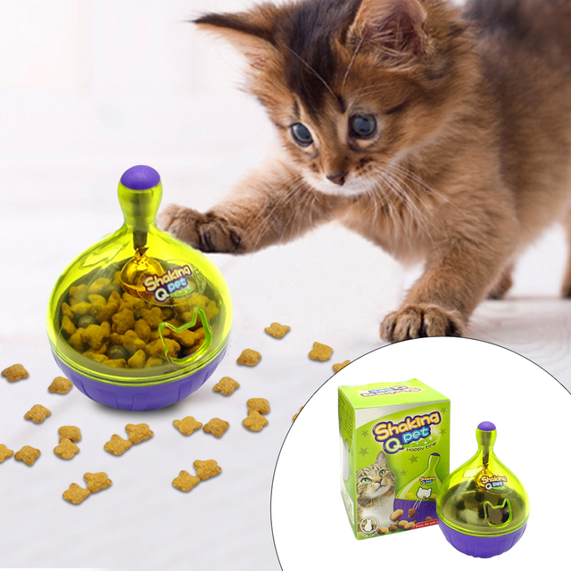 Interactive Cat  IQ Treat Ball Toy Smarter Pet Toys Food Ball Food Dispenser For Cats Playing Training interactive cat  iq treat food ball Interactive Cat  IQ Treat Food Ball HTB1vwuhlaagSKJjy0Fgq6ARqFXaG