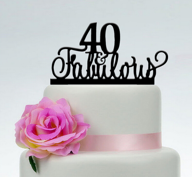 40 Fabulous birthday cake toppercustom color cake toppers40th