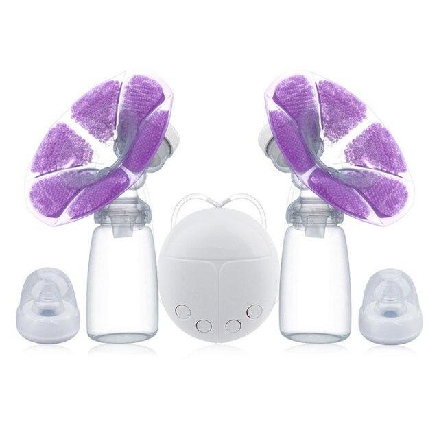 Bombas eléctricas de pecho con botella de leche Cable USB PP libre de BPA poderoso inteligente bebé amamantar leche ventosas