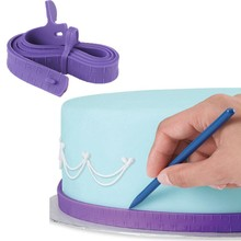 VOGVIGO Fondant Silicone Cake Measuring Tape Measuring Ruler Cake Border Decoration Cake Dividing Ruler Tools Sugar Craft Baking стоимость