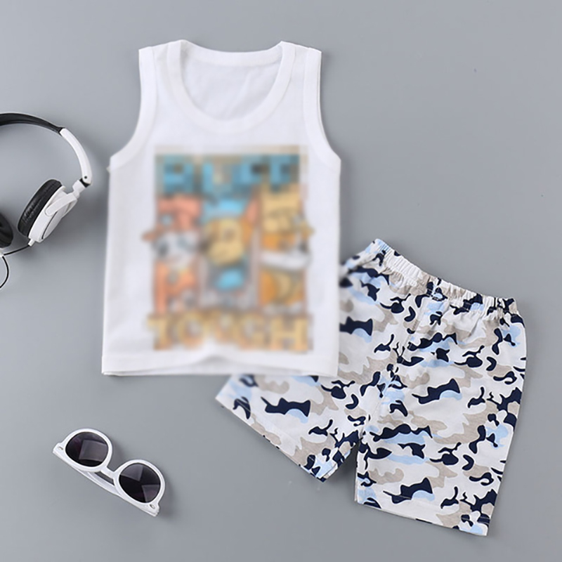 Summer Baby Boys Clothing Sets Sleeveless T-shirt + Shorts Kids Boy Clothes Set Toddler Girls Clothing Set Cotton Vest jaragar 6 hand day date stainless steel band automatic mechanical male wristwatch mens clock reloj hombre