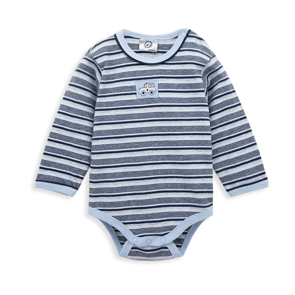 Spring Baby Bodysuits Cotton Infant Baby Boy Long Sleeve O-Neck Fashion Striped Style Comfort Onesie Baby Jumpsuit Clothe