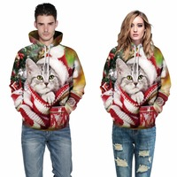 3D Hooded Sweatshirts Men Women Funny Cat Printed Hoodies Men Casual Sweatshirt Harajuku Hoody Hip Hop