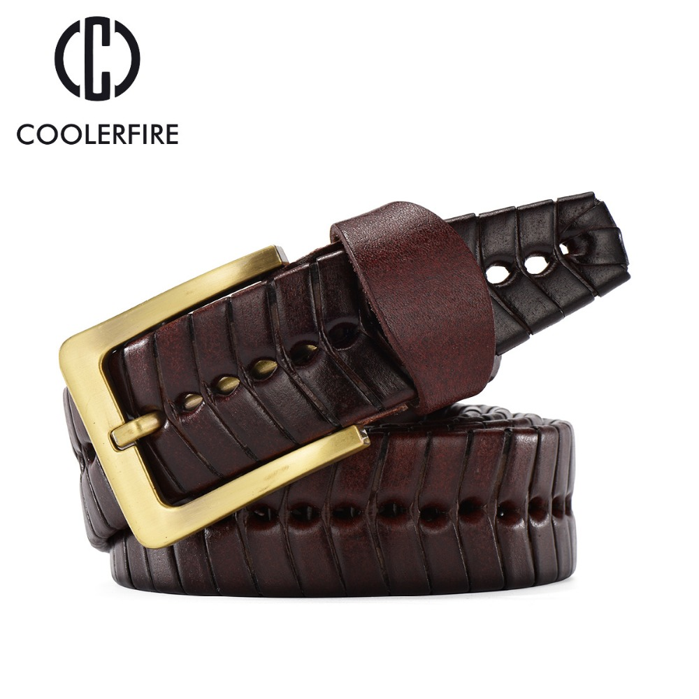 Hot 2017 Herrmodell Casual Stickade Bälten Män Vävda Braid Black Brown Metal Buckle Women's Belt Band Broder Jeans BZ003