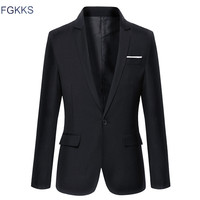 Hot Sale New Arrival Fashion Blazer Mens Casual Jacket Solid Color Cotton Men Blazer Jacket Men