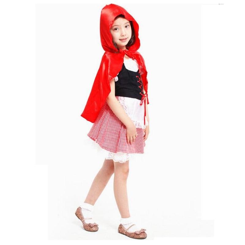 Qız kostyumu Şirin Balaca Miss Qırmızı Qız Cosplay Halloween - Karnaval kostyumlar - Fotoqrafiya 1