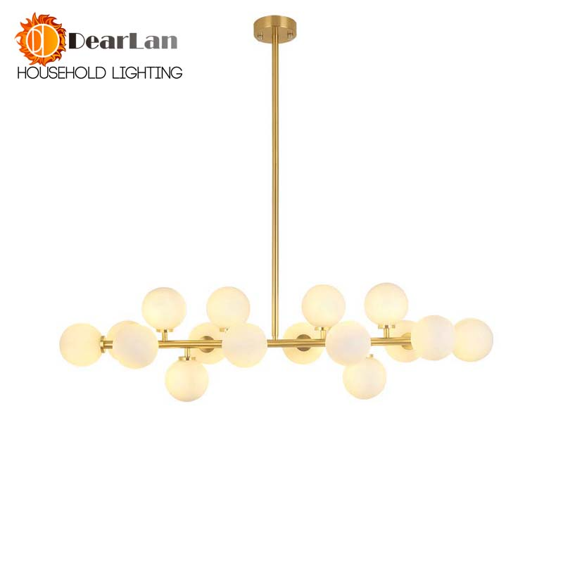 Modern Fashional LED Pendant Lamps Included With 16 LED Light Bulbs,Indoor Golden Hanging LED Lights For Dining Room/Living Room fashional black white pendant lamps good looking hanging lights for indoor decoration for dinning room living room rest room