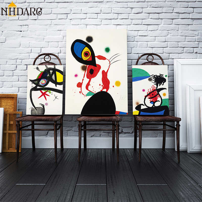 Joan Miro L'eunuque Imperial Abstract Wall Art Canvas Poster Print Canvas Painting Decorative Picture for Living Room Home Decor