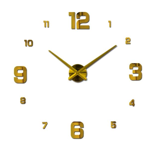 2018 free shipping new real metal 3d diy acrylic mirror wall clock watch clocks home decoration modern needle quartz stickers