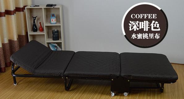 Простая складная кровать ланч-кровать легкий офисный деревянный для взрослых Доска кровать Открытый Портативный Ланч-кровать - Цвет: Coffee W75cm