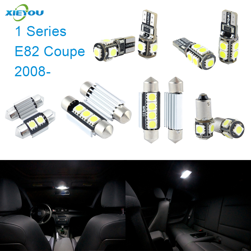 XIEYOU 6pcs LED Canbus Interior Lights Kit Package Para 1 Series E82 Coupe (2008+)