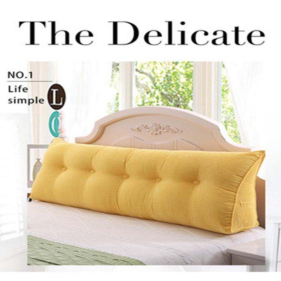 Canapé Long coussin dossier salon Grand nordique bébé dossier oreiller pour lit Cojin Rosa Capa Para canapé moderne décor à la maison A93