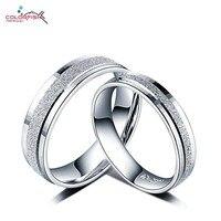 COLORFISH נצח חתונת להקות לזוגות אוהבי כסף סטרלינג 925 תכשיטי אופנה זוג טבעות הבטחת טבעת לגברים נשים