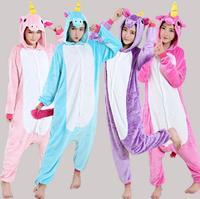 Pink Purple Blue Unicorn Cartoon Animal Onesies Pajama Costume Cosplay Pyjamas Unisex Adult Child Party Dress