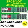 Оптовая Новый 2 ШТ./ЛОТ 8 ГБ = 4 ГБ + 4 ГБ DDR2 4 ГБ 800 МГЦ PC2-6400 sodimm БАРАНА Для Настольных ПК Для AMD Системы