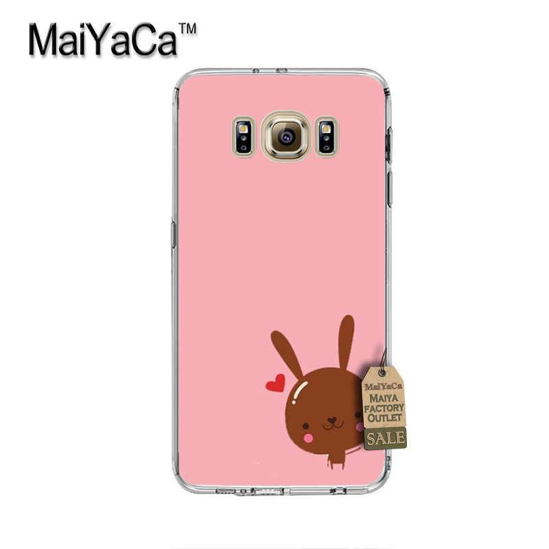 MaiYaCa abierto el conejo de lujo PC teléfono duro caso para cubrir Samsung gaxlay s4 s5 s6 s7 s8 caso