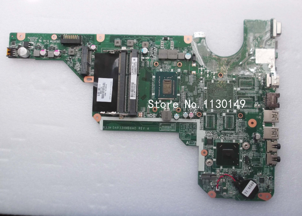 710873-501 Free Shipping laptop motherboard For HP Pavilion G6 G6-2000 i3-3110M 710873-001 DDR3 full tested