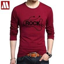 DJ Rock Long Sleeve Tshirt Man Music Cotton Heavy Metal Tee shirts Rap Hip Hop Printed