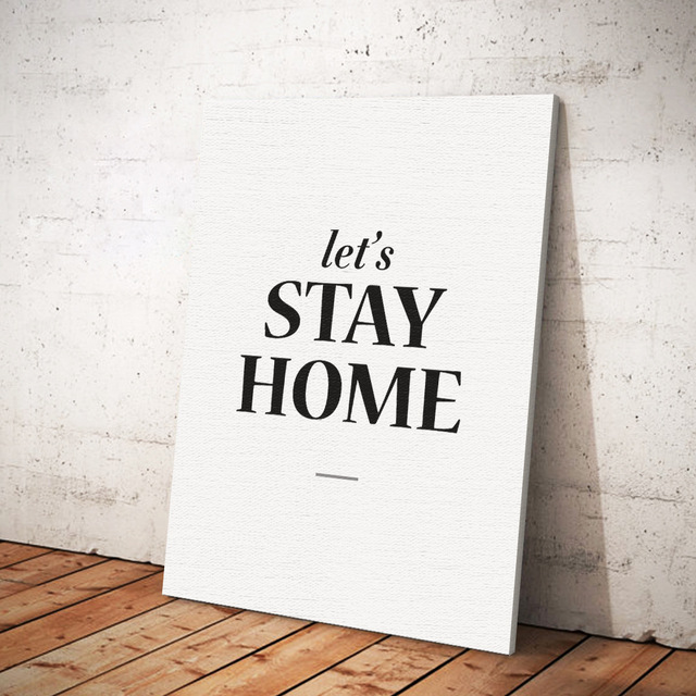 Let's Stay Home Canvas Art Painting Poster Wall Art 50x60cm (20 x 24 inches) Painting Poster Wall Art For Living Room Decoration