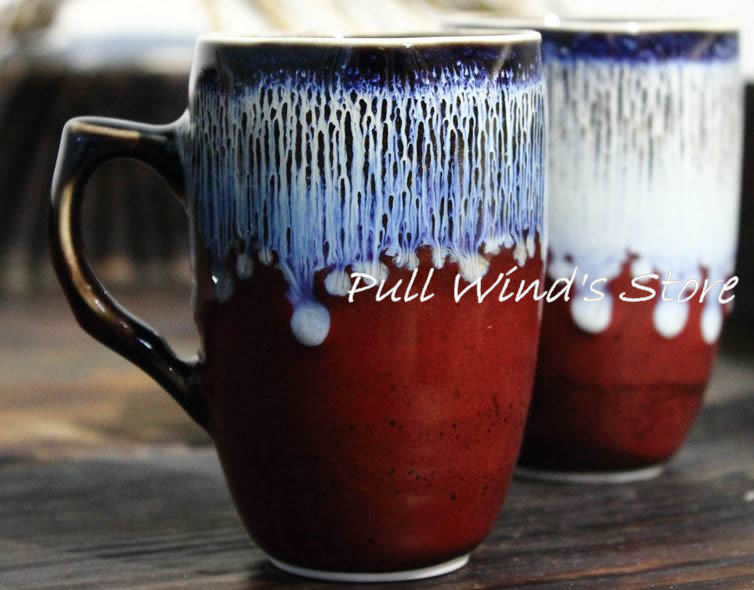 Cool coffee mug handmade color ceramic mug great for How to paint ceramic mugs at home