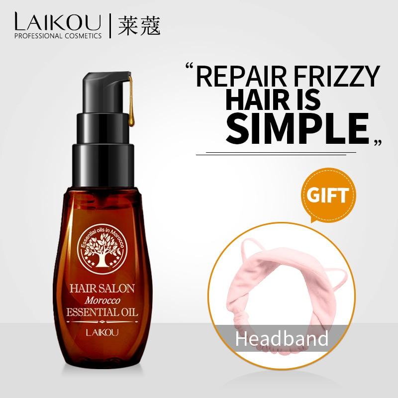 LAIKOU pur maroc huile d'argan cheveux huile kératine défrisage cheveux bouclés traitement Croissance masque pour les Cheveux abîmés sec pointes fourchues 30 ml