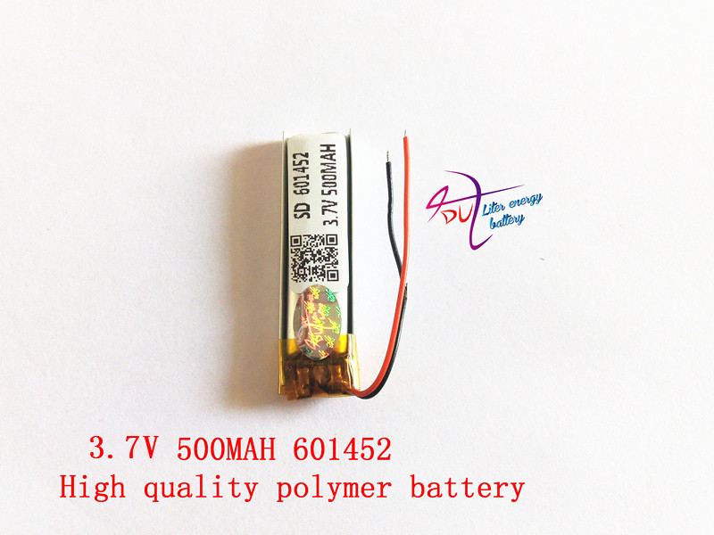 Polymer battery 3.7 V 601452 500mah smart home MP3 speakers Li-ion battery for dvr,GPS,mp3,mp4,cell phone,speaker polymer battery 1000 mah 3 7 v 504045 smart home mp3 speakers li ion battery for dvr gps mp3 mp4 cell phone speaker