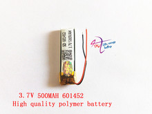 Polymer battery 3.7 V 601452 500mah smart home MP3 speakers Li-ion battery for dvr,GPS,mp3,mp4,cell phone,speaker